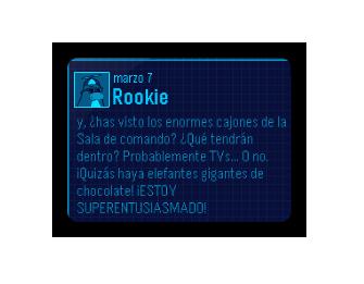Mensaje de Rookie