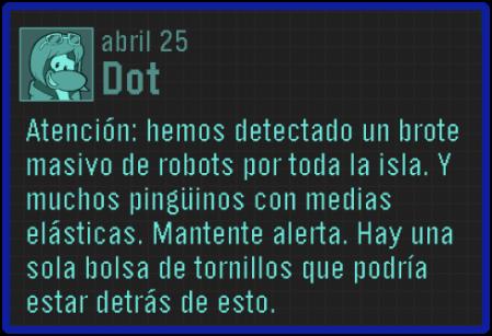 Mensaje de Dot